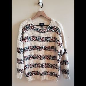 Anthropologie Striped Oversized Sweater Size Med
